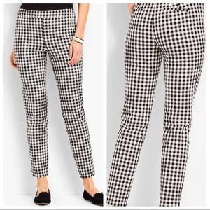 Talbots Chatham Gingham Stretchy Ankle Pants 16P
